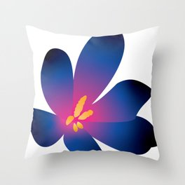 Midnight Flower Throw Pillow