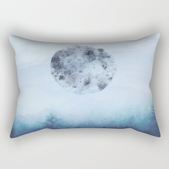 Watercolor Moon Rectangular Pillow