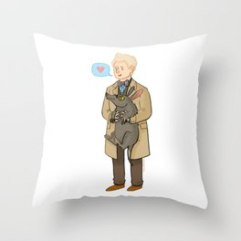 Good Omens- The Ineffable Couple Throw Pillow