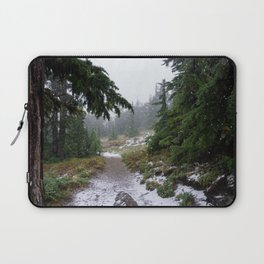 The First Mountain Snowfall Laptop Sleeve