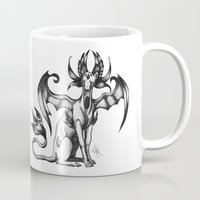 sphynx Mugs featuring Sphynx by STiCK MONSTER iNK