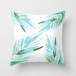 Palm tree leaves Throw Pillow