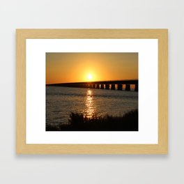 7 Mile Bridge Framed Art Print