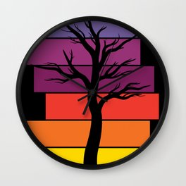 Tree Silhouette (Original) Wall Clock