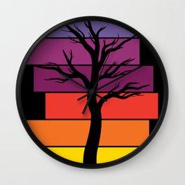 Tree Silhouette (Original) Wall Clock