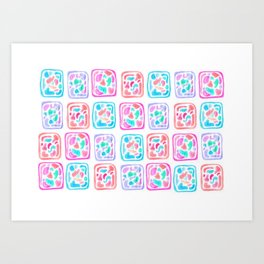 Celular Art Print