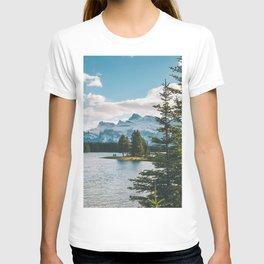 Two Jack Lake & Mt. Rundle T-shirt