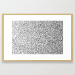 Beautiful Silver glitter sparkles Framed Art Print