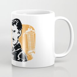 Nikola Tesla Retro Scientist Coffee Mug