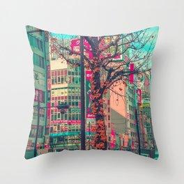 TOKYO CITY TREE Throw Pillow