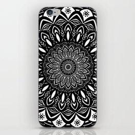 Bold Mandala Black and White Simple Minimal Minimalistic iPhone Skin