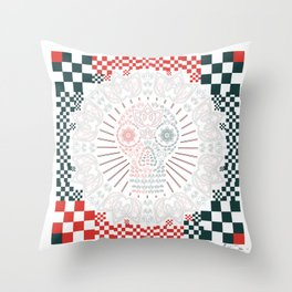 SKULLII Throw Pillow