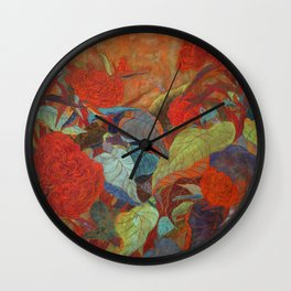 flower3【Japanese painting】 Wall Clock