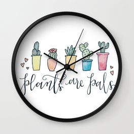 Plants Are Pals Wall Clock