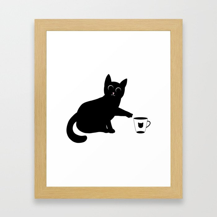 Don't drop the mug Framed Art Print