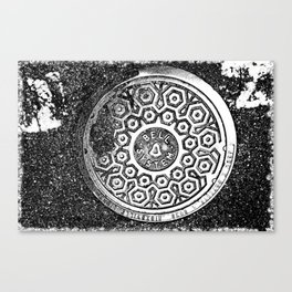 """""""Ma Bell"""" NYC man hole cover Canvas Print"""