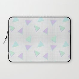 Cool-Color Pastel Triangles on Grid Laptop Sleeve