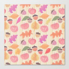 Fall Mix and Stripes Canvas Print