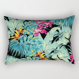 Tropical Greenery Island Dreams Rectangular Pillow