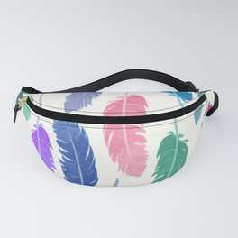 Colorful Feathers Fanny Pack
