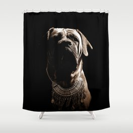 Dramatic Boerboel Shower Curtain