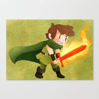 dungeons and dragons Canvas Prints featuring Dungeons, Dungeons, and More Dungeons by Sir-Snellby
