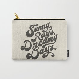 Sunny Rays Dreamy Days Typographic Art - Charcoal on Ivory | Alex Gold Studios Carry-All Pouch