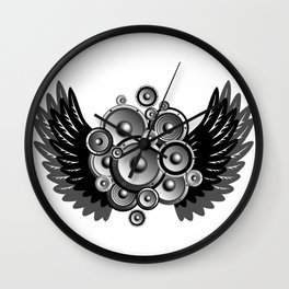 Abstract music illustration Wall Clock