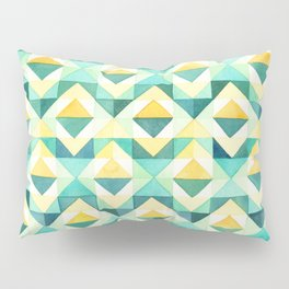 Quilted Diamond // Geometric Watercolor Pattern Pillow Sham