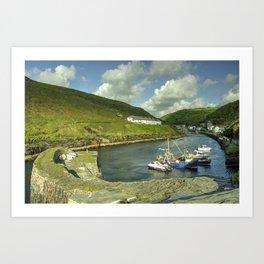 Boscastle Harbour  Art Print