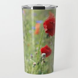 poppy flower no8 Travel Mug
