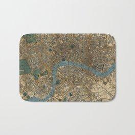 Vintage Map of London England (1860) Bath Mat
