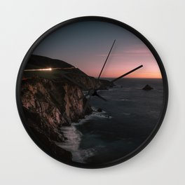 Big Sur Sunset Wall Clock