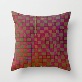 Manual Grid Fall Digital Throw Pillow