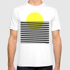 suton Mens Fitted Tee White SMALL