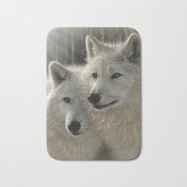 White Wolves - Sunlit Soulmates Bath Mat