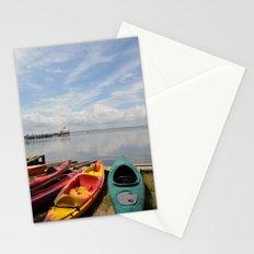 Bay Landscape with Canoe  Stationery Cards