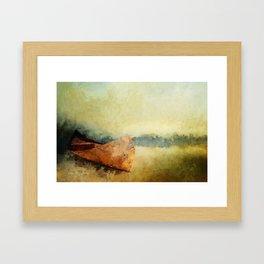 BIRCH BARK CANOE AT REST Framed Art Print