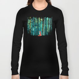 Fox in quiet forest Langarmshirt