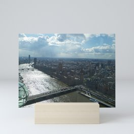 London from the sky Mini Art Print