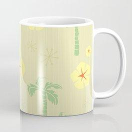 Midcentury Tiki Print Hawaii Retro Vintage Coffee Mug