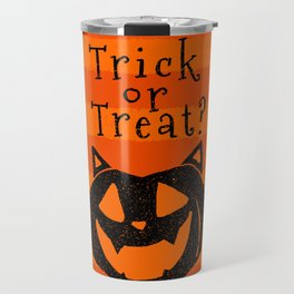 Trick or Treat? Halloween cat lady Travel Mug