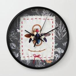vintage jewel beetle Wall Clock