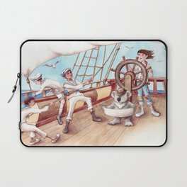 Girl Captain and her Koala Laptop Sleeve