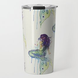 Mermaid - Natural Travel Mug