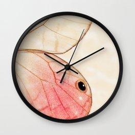 Pink Glasswing 1 Wall Clock