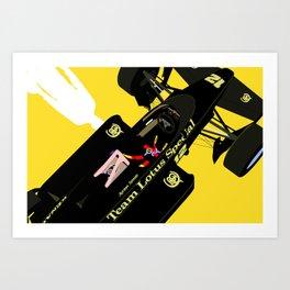 Senna's Lotus Kunstdrucke