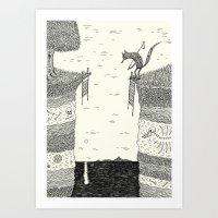 broken Art Prints featuring 'Broken Bridge' by Alex G Griffiths