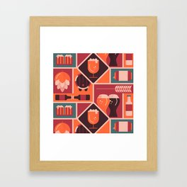 Happy Bear Garden Framed Art Print