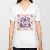 holographic V-neck T-shirts featuring sweet pale pink prince by STORMYMADE